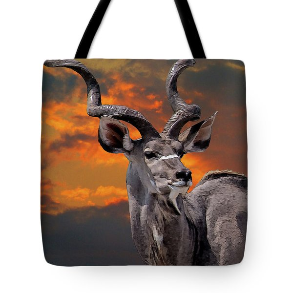 Kudu At Sunset Tote Bag