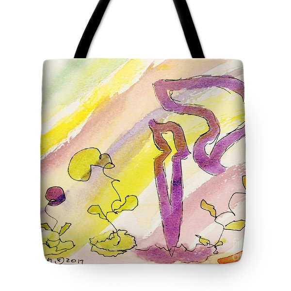 Kuf And Flowers Tote Bag