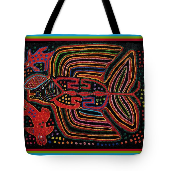 Kuna Indian Flying Fish  Tote Bag