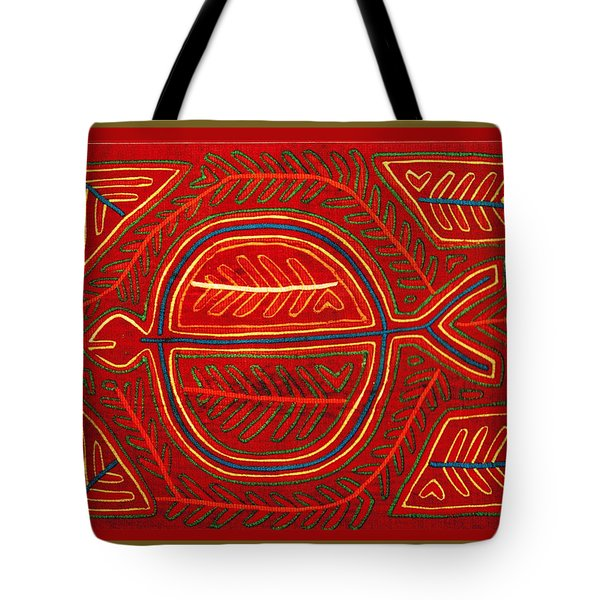 Kuna Indian Stingray Mola Tote Bag