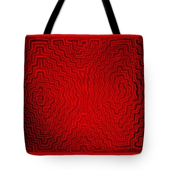 Tote Bag featuring the digital art Kuna Indian Sun Heat Rays by Vagabond Folk Art - Virginia Vivier