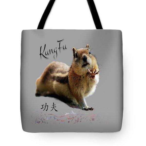 Kung Fu Chipmunk Tote Bag