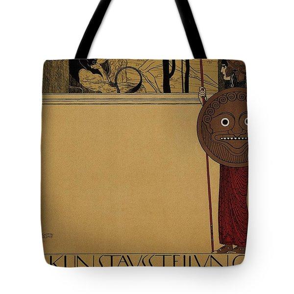 kunstavsstellvng - Vienna Secession Exhibition - Retro travel Poster - Vintage Poster Tote Bag