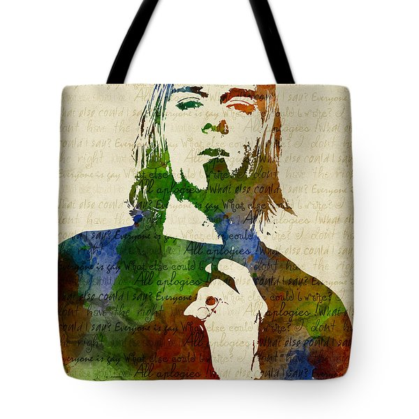 Kurt Cobain Watercolor Tote Bag