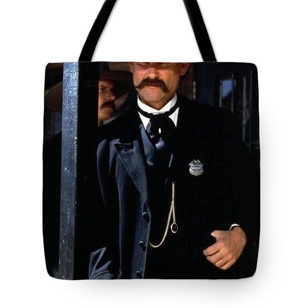 Kurt Russell As Wyatt Earp Tombstone Arizona 1993-2015 Tote Bag
