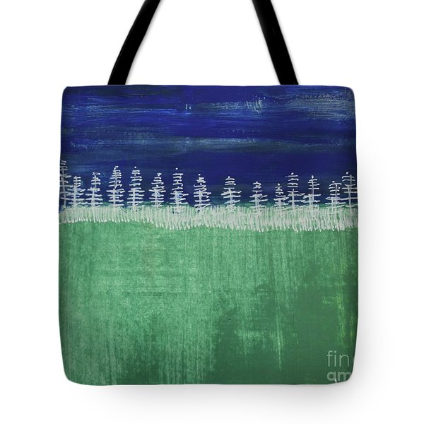 Tote Bag featuring the painting Kurt's Woods by Kim Nelson