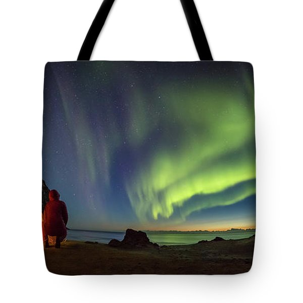 Kvalvika Under The Lights Tote Bag
