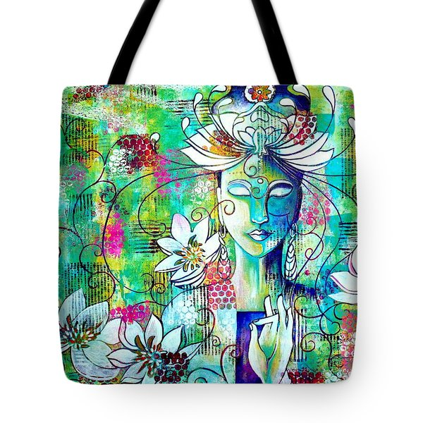 Kwan Yin Tote Bag by Julie Hoyle