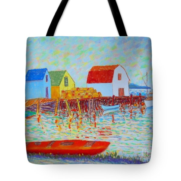 Kyak At Blue Rocks Tote Bag