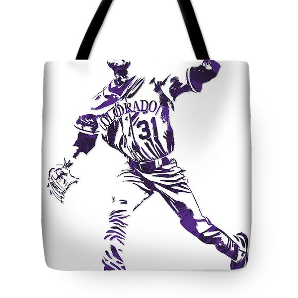 Kyle Freeland Colorado Rockies Pixel Art 2 Tote Bag