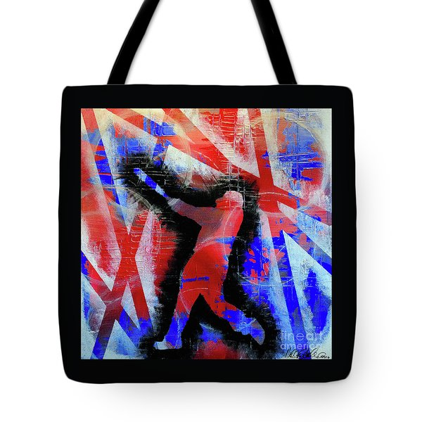 Tote Bag featuring the painting Kyle Schwarber - #letsgo by Melissa Goodrich
