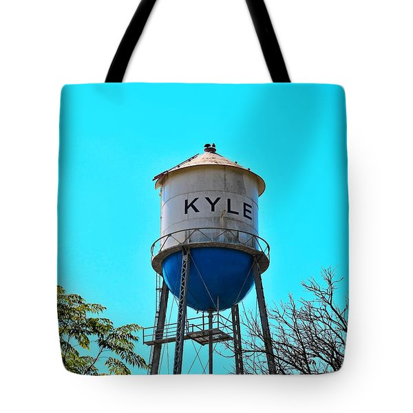 Kyle Texas Water Tower Tote Bag