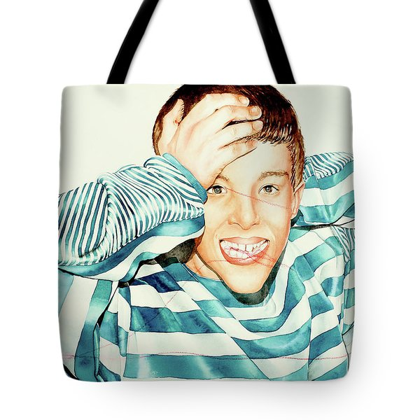 Kyle's Smile Or Fragile X Stressed Tote Bag