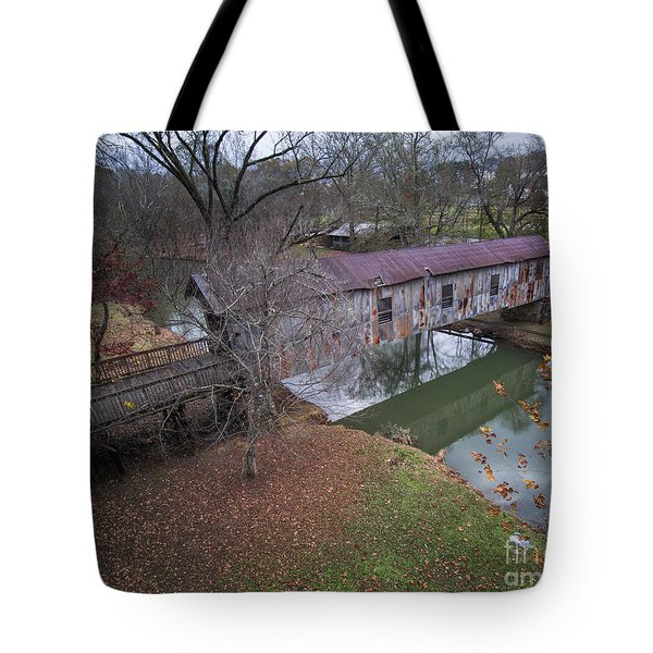 Kymulga Covered Bridge Aerial 1 Tote Bag