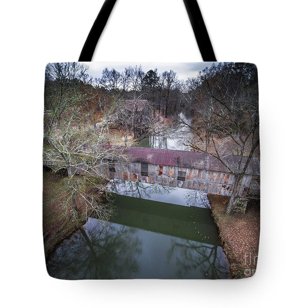 Kymulga Covered Bridge Aerial 2 Tote Bag
