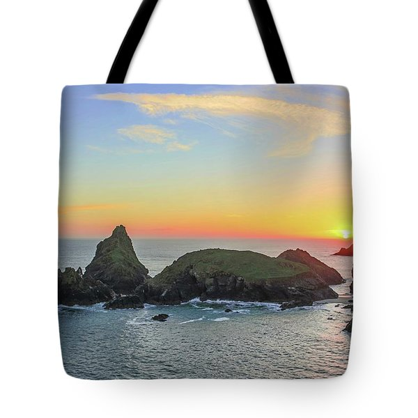 Kynance Cove At Sunset  Tote Bag