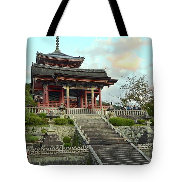 Tote Bag featuring the photograph Kyoto Temple by Corinne Rhode