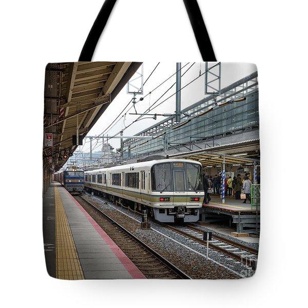 Kyoto To Osaka Train Station, Japan Tote Bag