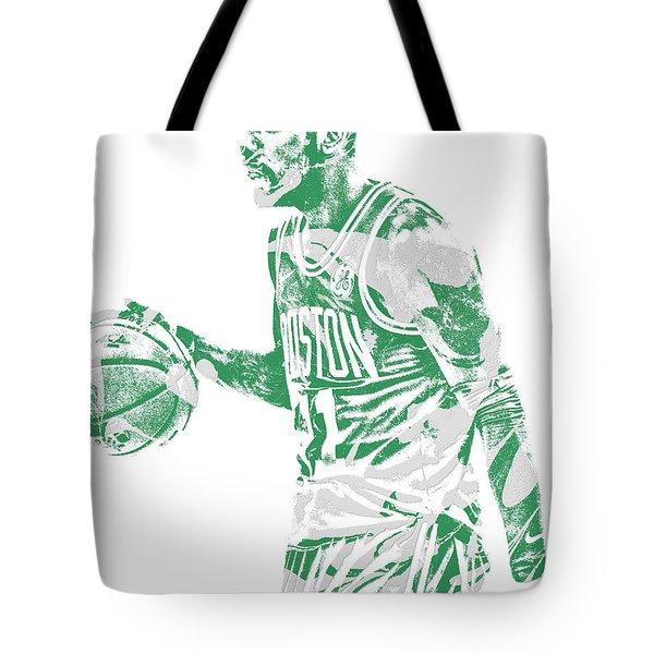 Kyrie Irving Boston Celtics Pixel Art 40 Tote Bag