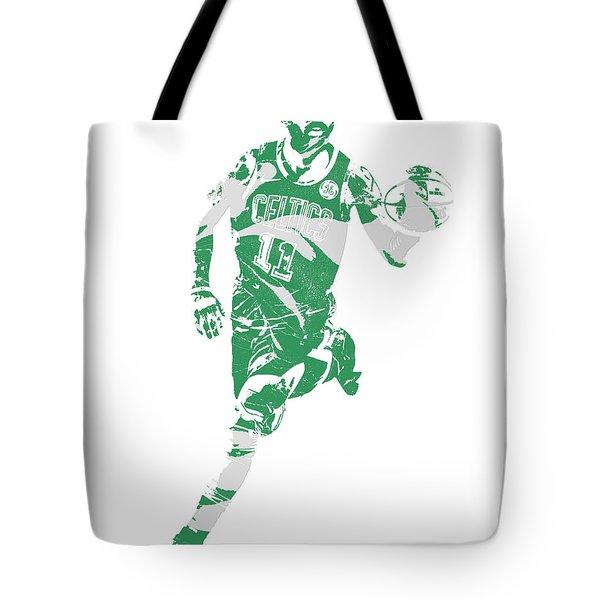 Kyrie Irving Boston Celtics Pixel Art 60 Tote Bag