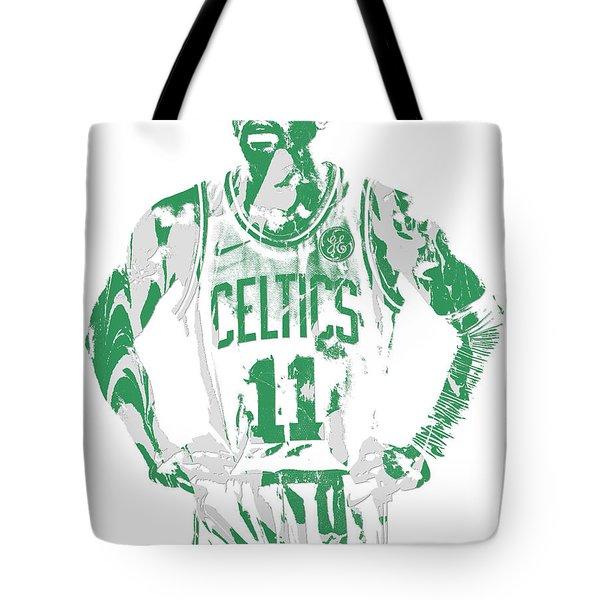 Kyrie Irving Boston Celtics Pixel Art 8 Tote Bag