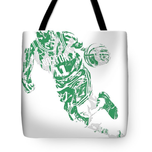 Kyrie Irving Boston Celtics Pixel Art 9 Tote Bag