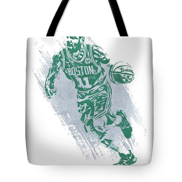 Kyrie Irving Boston Celtics Water Color Art 2 Tote Bag