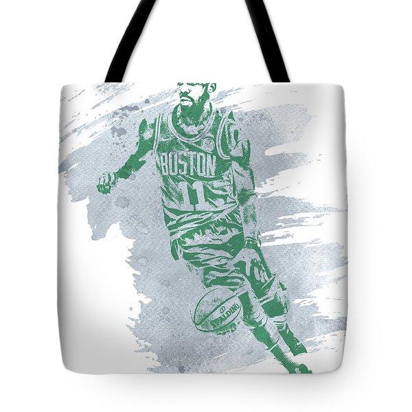 Kyrie Irving Boston Celtics Water Color Art 3 Tote Bag
