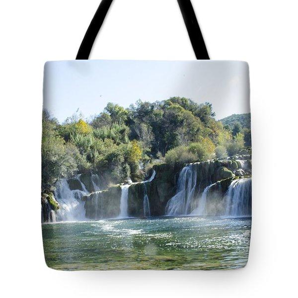 Kyrka Waterfalls Tote Bag