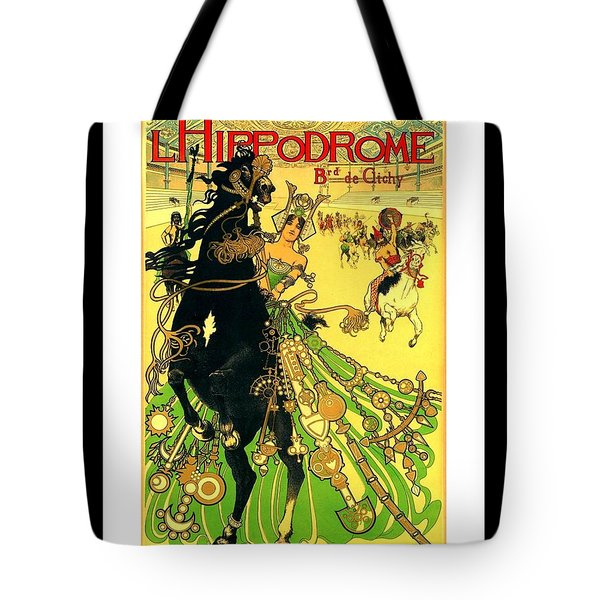 L Hippodrome 1905 Parisian Art Nouveau Poster II Manuel Orazi 1905 Tote Bag