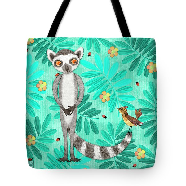 L Is For Lemur And Lark Tote Bag