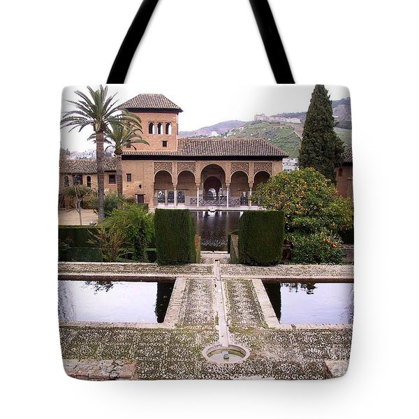 La Alhambra Garden Tote Bag by Thomas Marchessault