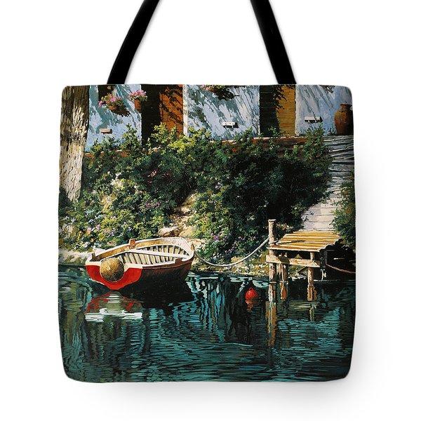 La Barca Al Molo Tote Bag