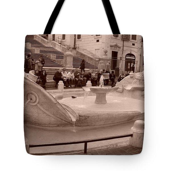 La Barcaccia Tote Bag