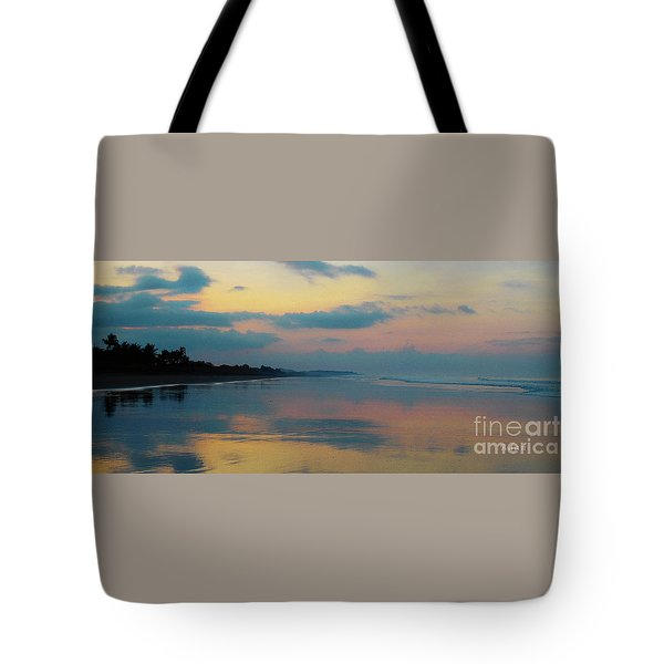 la Casita Playa Hermosa Puntarenas - Sunrise One - Painted Beach Costa Rica Panorama Tote Bag