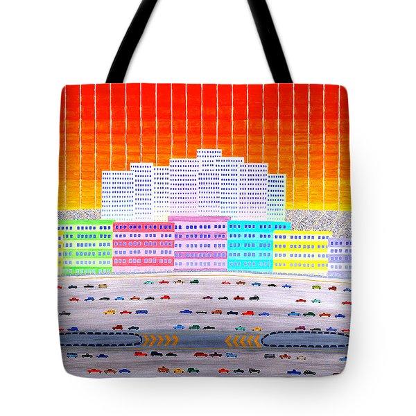 L.a. Cityscape Tote Bag