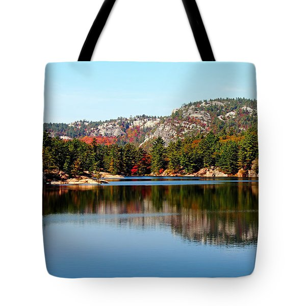 Tote Bag featuring the photograph La Cloche Mountain Range by Debbie Oppermann