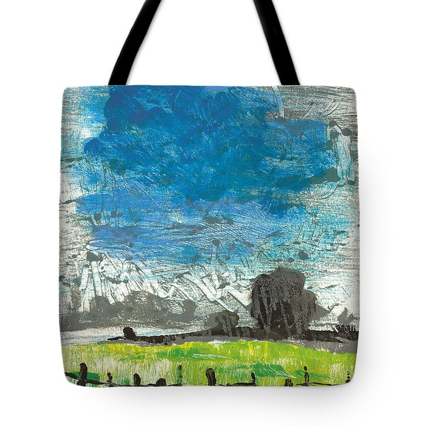 Tote Bag featuring the painting La Crau by Martin Stankewitz