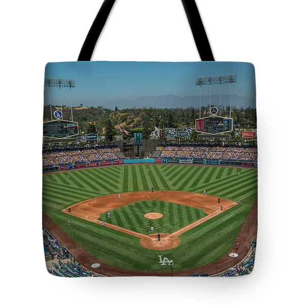 Tote Bag featuring the photograph La Dodgers Los Angeles California Baseball by David Haskett