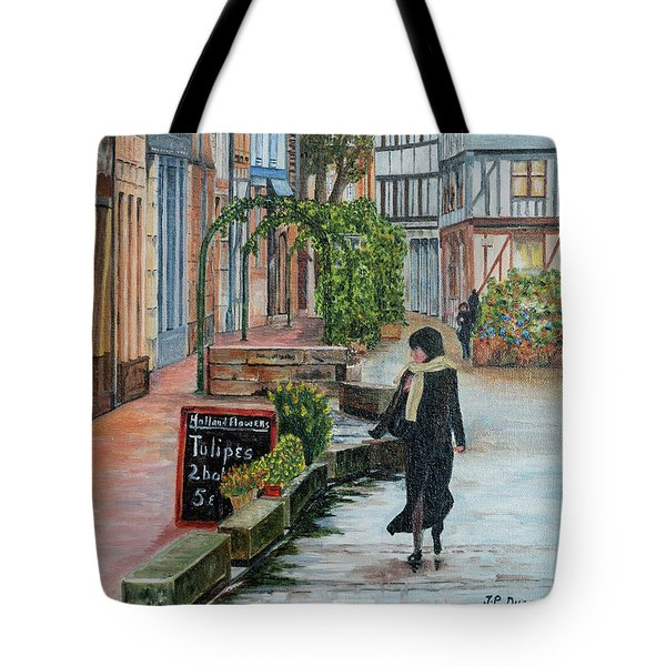 La Femme Aux Tulipes Tote Bag by Jean-Pierre Ducondi