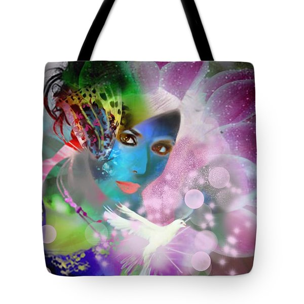 Tote Bag featuring the digital art La Femme Fantastique by Diana Riukas