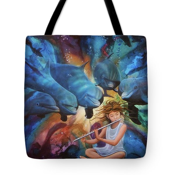 la flautista III Tote Bag