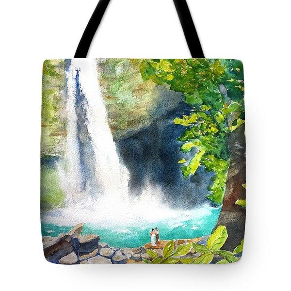 La Fortuna Waterfall Tote Bag