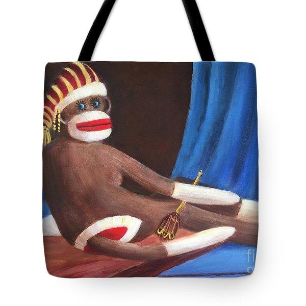 La Grande Sock Monkey Tote Bag by Randy Burns