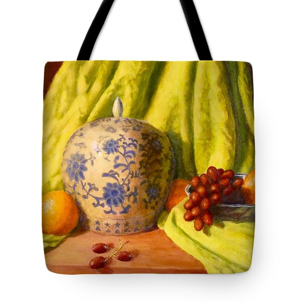 Tote Bag featuring the painting La Jardiniere by Joe Bergholm
