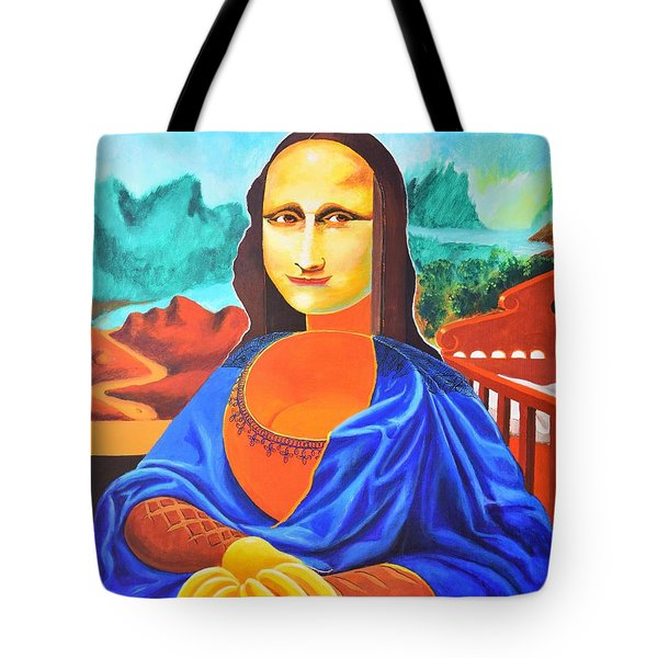 La Joconde Sur La Table Au Bol Vide Tote Bag