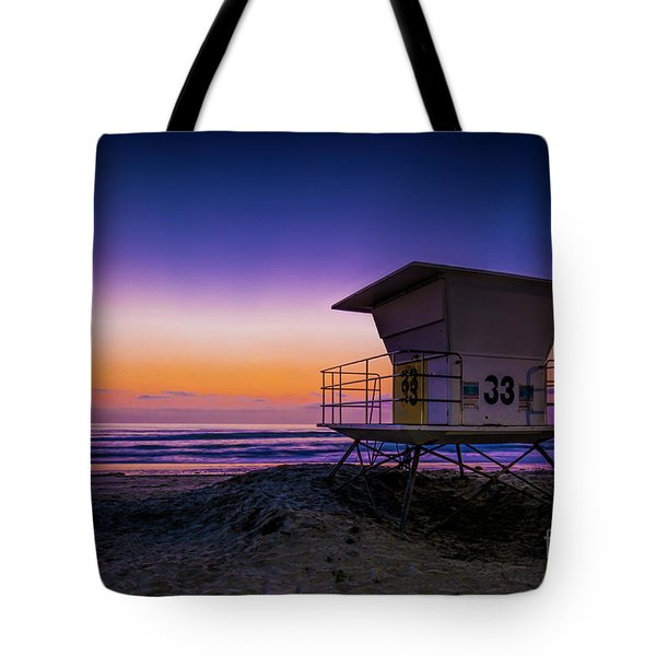 La Jolla Beach Sunset Tote Bag