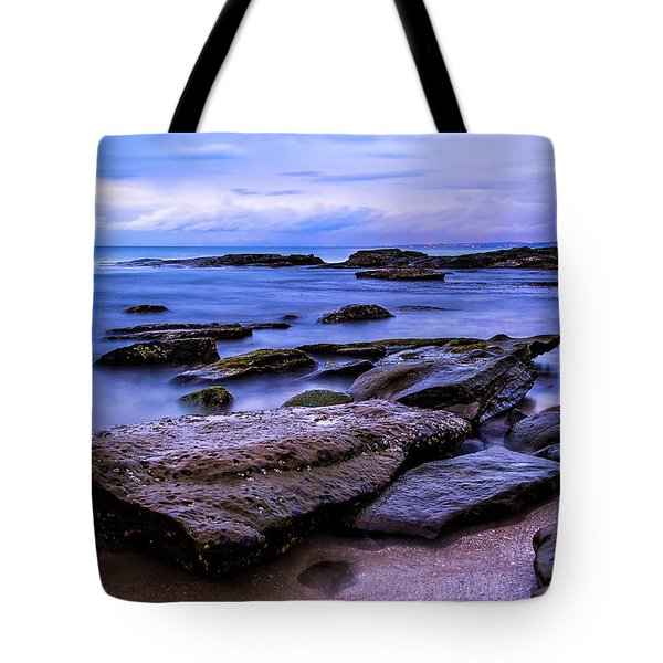 Tote Bag featuring the photograph La Jolla Cove Twilight by Jason Roberts