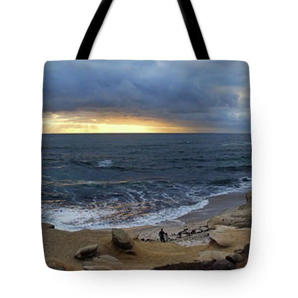La Jolla Shores Beach Panorama Tote Bag