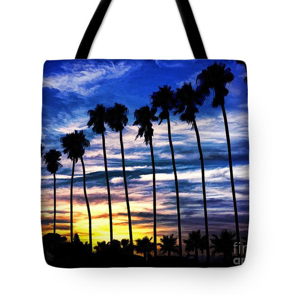 La Jolla Silhouette - Digital Painting Tote Bag